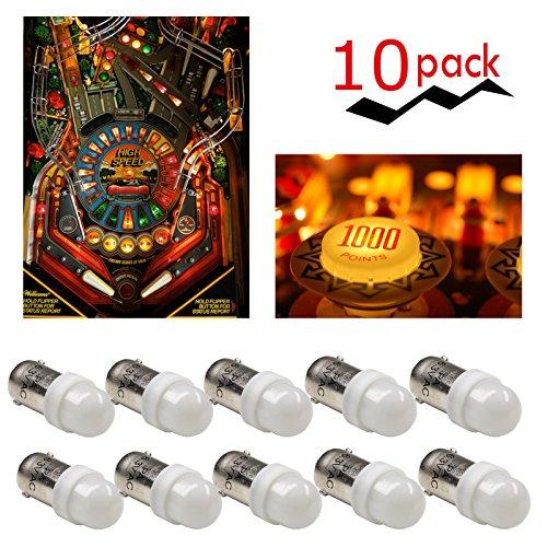 PA x10 T11 2835 LED ba9s 2 SMD 6.3V DC Pinball Gaming Machine Light Bulb (White)