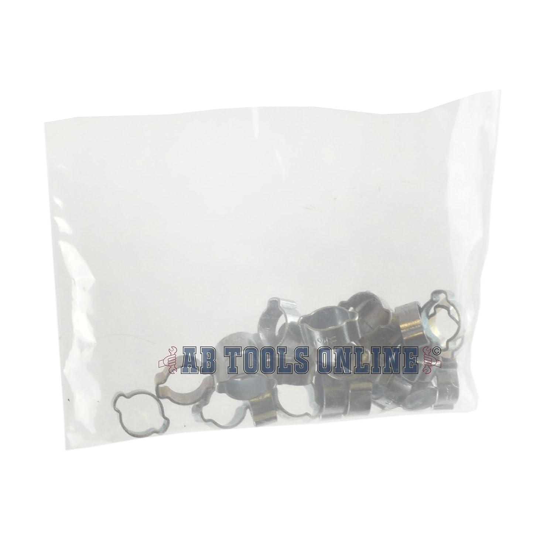 Oreille double tube Tuyau Flexible Colliers Colliers 9-11mm 25pcs et CV Joint Pince de d/émarrage