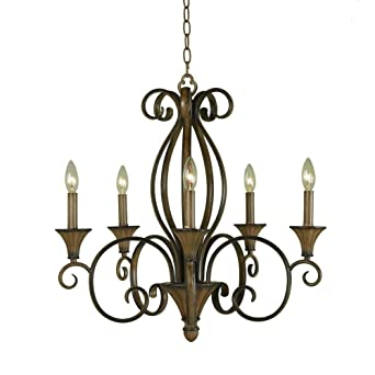 hampton bay hdp11963 chester 5light ceiling aruba teak chandelier