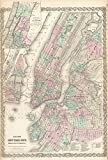 vintage nyc map - Wall Art Print entitled Vintage Map Of NYC And Brooklyn (1865) by Alleycatshirts @Zazzle | 32 x 48