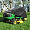 "NEH Deluxe Riding Lawn Mower Tractor Cover Fits Decks up to 54"" - Dark Grey - Water, Mildew, and UV Resistant Storage Cover"