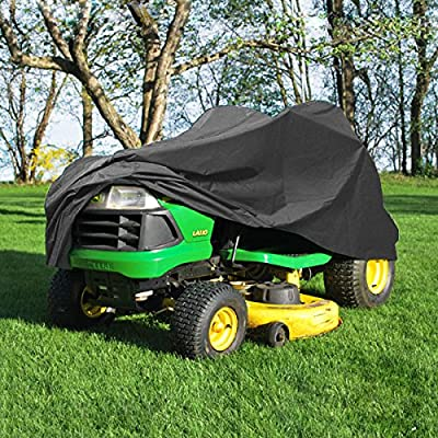 """NEH Deluxe Riding Lawn Mower Tractor Cover Fits Decks up to 54"""" - Dark Grey - Water, Mildew, and UV Resistant Storage Cover"""