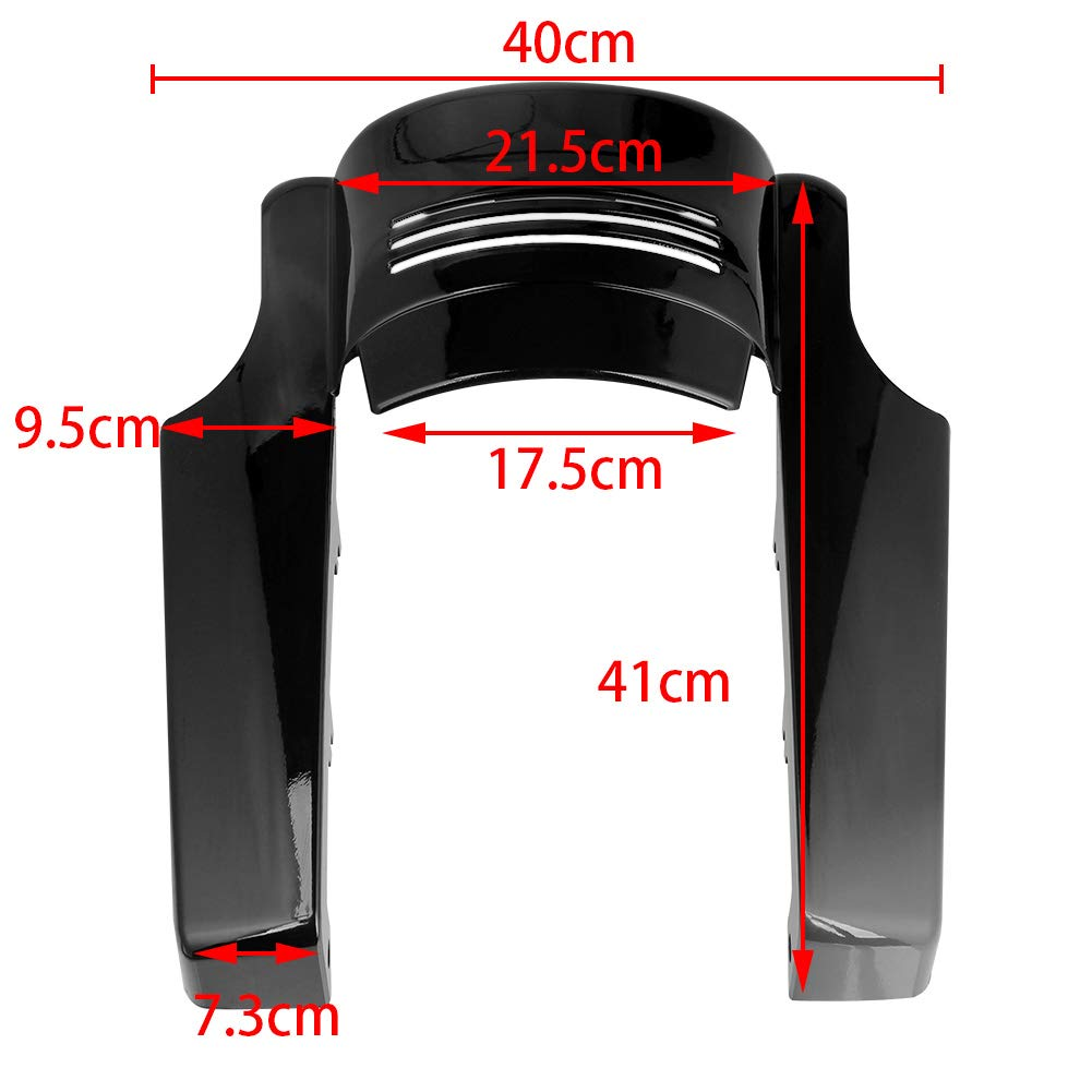 AQIMY 5 Motorcycle Rear Fender Extension Stretched Filler for Harley Touring Street Road Glide 2014 2015 2016 2017 2018