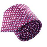 Qobod Classic Men's Tie silk Necktie Woven JACQUARD Neck Ties gift box