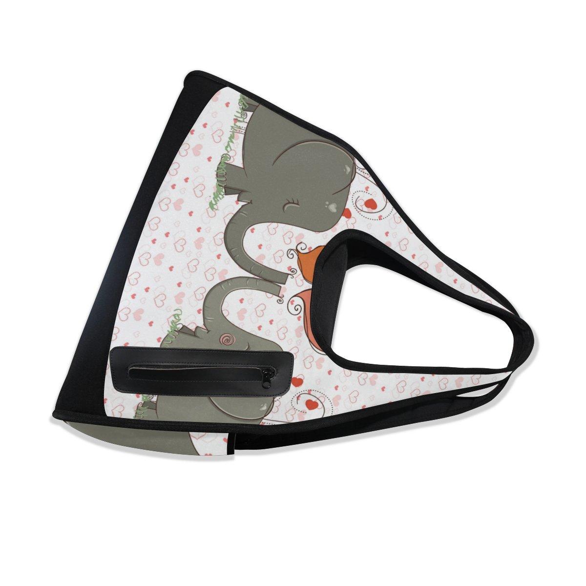 AHOMY Sports Gym Bag Elephant Love Heart Duffel Bag Travel Shoulder Bag by AHOMY (Image #6)