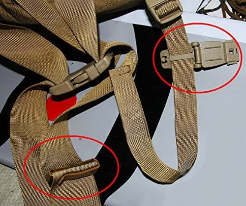 10pcs Clips De Raccordement Noire Molle Sangles Sac Bandouliere Sac a Dos Clip Boucle pour le sac tactique sac /à dos