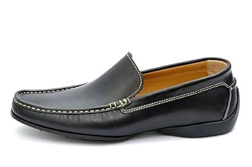 PRATIK of Portugal ALBERT - Mocasines de cuero para hombre, color negro, talla 39.5: Amazon.es: Zapatos y complementos