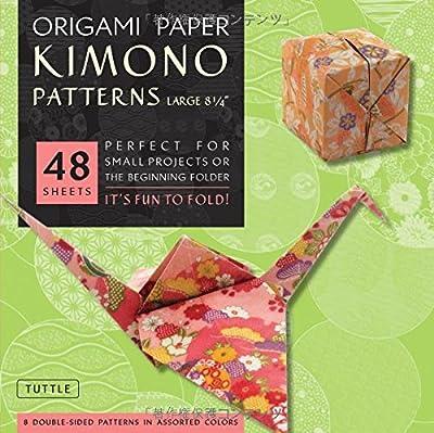 "Origami Paper - Kimono Patterns - Large 8 1/4"" - 48 Sheets: (Tuttle Origami Paper)"