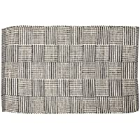 DII Contemporary Reversible Indoor Area Rag Rug, Machine Washable, Handmade from Recycled Yarn, Unique For Bedroom, Living Room, Kitchen, Nursery and more, 2 x 3 - Gray Checkers