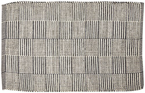 DII Contemporary Reversible Indoor Area Rag Rug, Machine Washable, Handmade from Recycled Yarn, Unique For Bedroom, Living Room, Kitchen, Nursery and more, 2 x 3' - Gray - Rug Area Checker