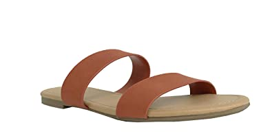 39547f9f4 SODA Browse Women s Dual Straps Slip On Sandals