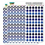 Water Droplet Dots Planner Calendar Scrapbooking Crafting Stickers - Blue - Opaque