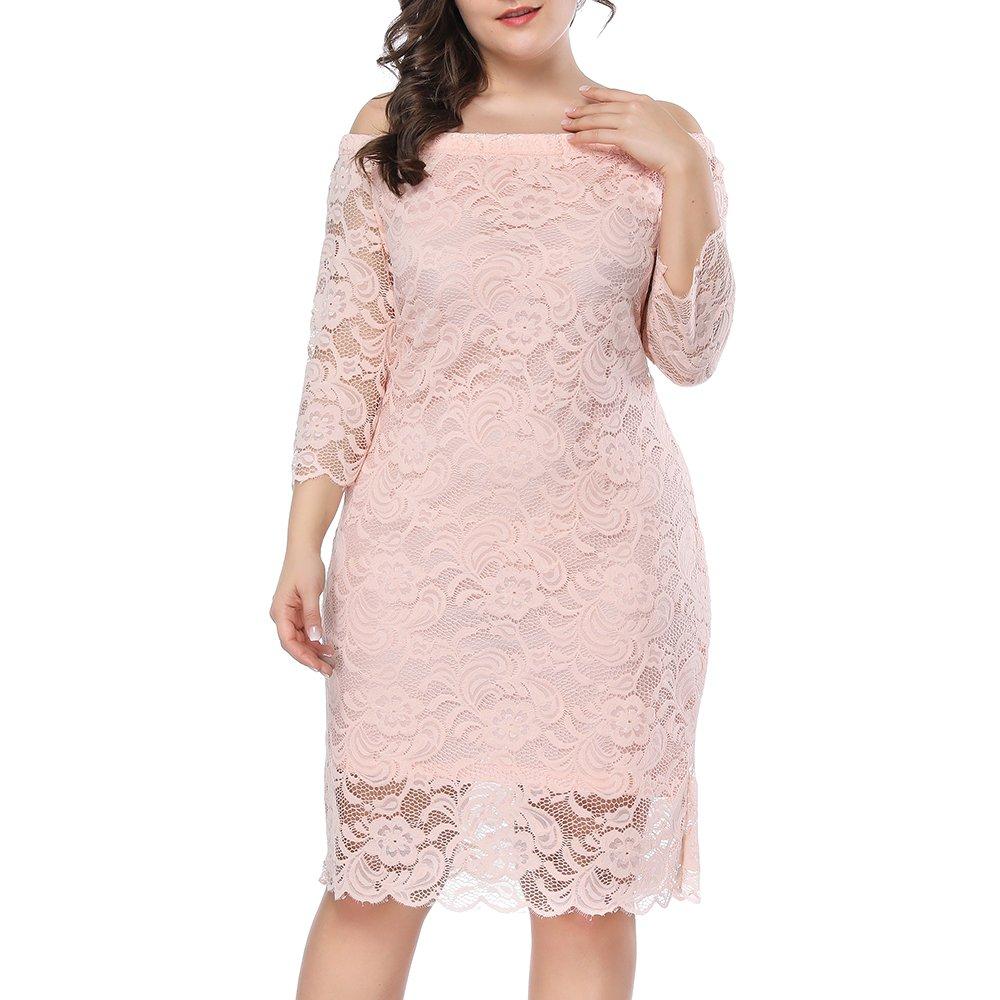 Prior Jms Womens Plus Size Lace Mini Dress Wedding Dresses Off Shoulder Vintage Floral for Cocktail Party Gown Dress