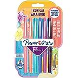 Paper Mate Flair stylo-feutre, pointe moyenne 1,1mm, couleurs Tropical, lot de6