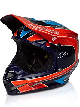 Casco Mx Troy Lee Designs 2018 Se4 Squadra Team Carbon Anaranjado (S , Anaranjado)