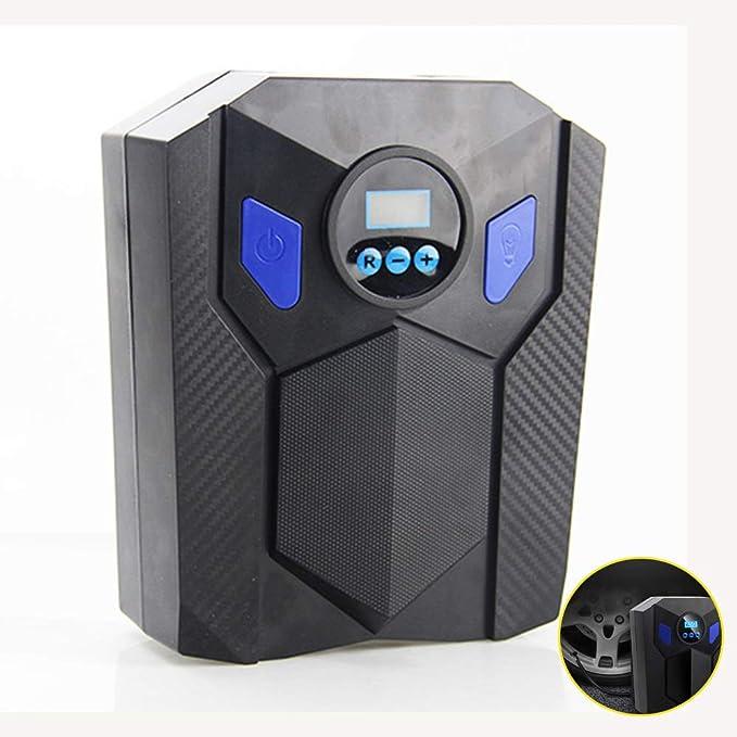 H.L La Bomba de neumático del compresor de Aire del inflador 12V 120W del neumático con un Flujo de Aire más Grande 40L/min con la luz del LED: Amazon.es: ...