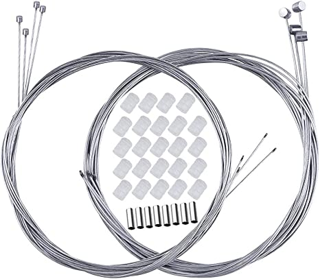 BUZIFU 8pcs Cable Freno y Cable Cambio, con 8 Terminales y 24 ...