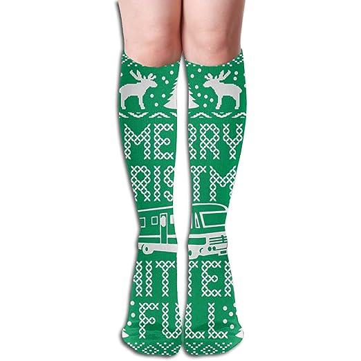 Christmas Over Knee Thigh High Womens Fashion Leg Warmers Solid Waffle Stitch