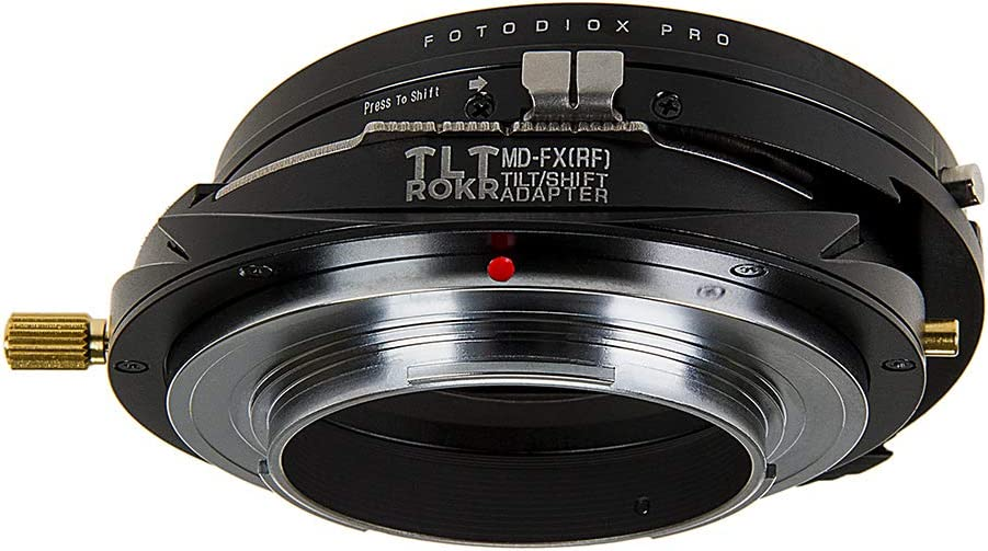 Fotodiox Pro TLT ROKR Tilt//Shift Lens Mount Adapter Compatible with Minolta Rokkor SR//MD//MC SLR Lenses to Fujifilm Fuji X-Series Mirrorless Camera Body