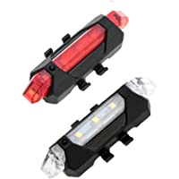 Generic 007 Bicycle LED USB Rechargeable Head Light and Tail Light