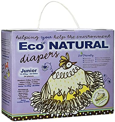 Broody Chick Eco-Natural Diapers, Junior