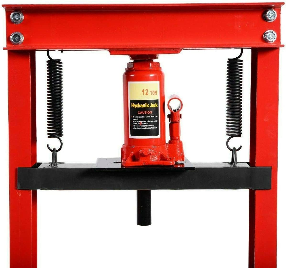 AUTOMUTO 12 Ton Shop Press Floor H-Frame Press Plates Hydraulic Jack Stand Equipment