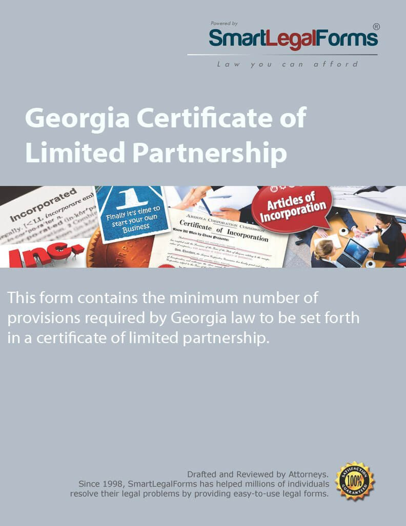 Certificate of Limited Partnership - GA [Instant Access] by SmartLegalForms, Inc.