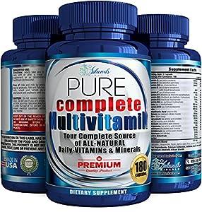 Daily Multivitamin For Men & Women + Antioxidant The Best Complete Multivitamins & Minerals All Natural Organic Supplements Vitamins A, B Complex, C, Vitamin D3 2,000 IU, E, Biotin For Hair growth