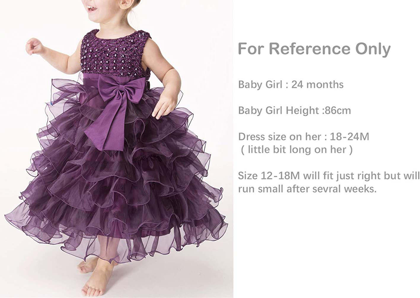 Baby Girl Dresses Ruffle Lace Pageant Party Wedding Flower Girl Dress: Clothing