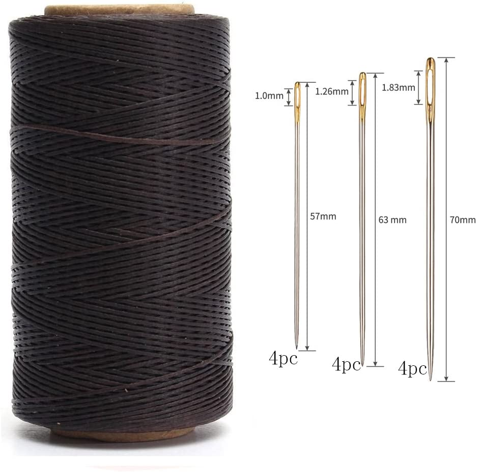 Double Holes 2Pcs 2-Prong Lacing Needle Leather Stitching Needle Steel Black Leather Cord Rope Sewing DIY Needle Leather Projects