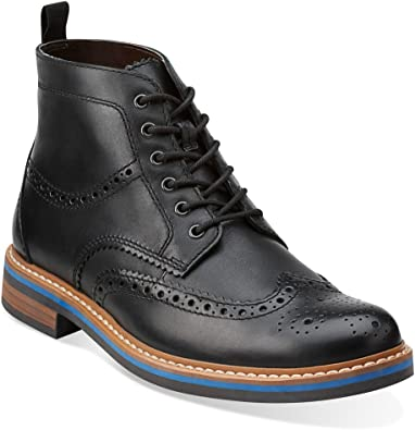 CLARKS Darby Rise Black Leather