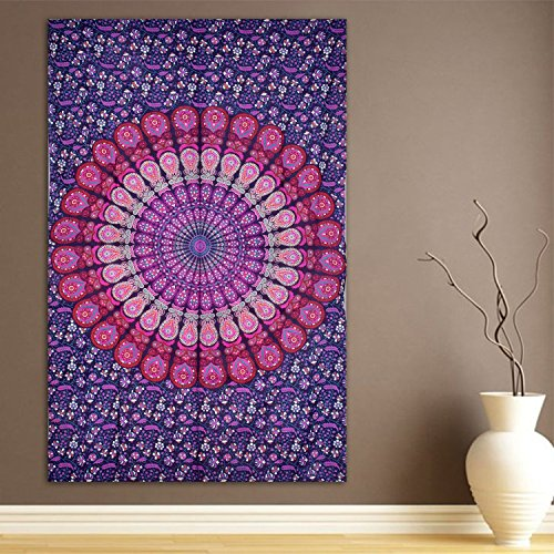 ModTradIndia-Pink & Purple Mandala Indian Tapestry
