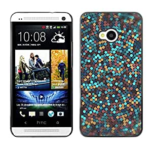 LOVE FOR HTC One M7 Glitter Gold Bronze Blue Clean Awesome Personalized Design Custom DIY Case Cover