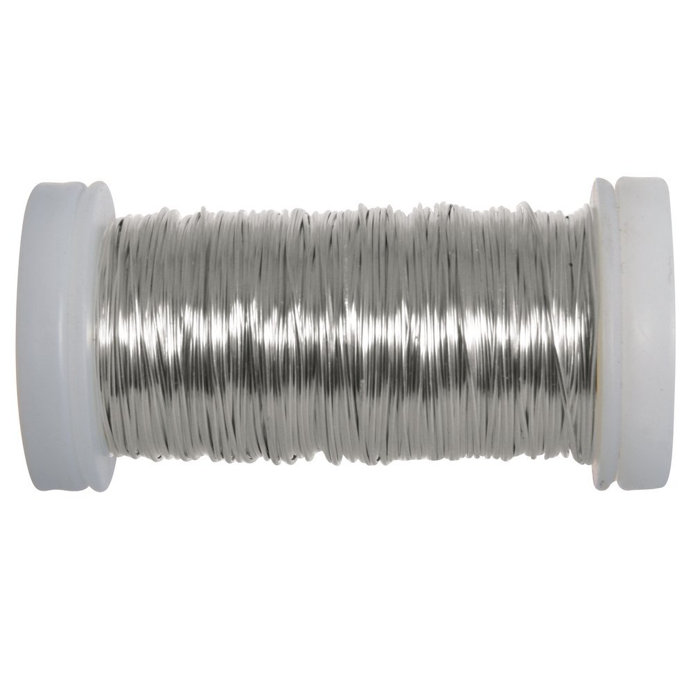 Spule Rayher Hobby 24078000 Silberdraht 0,5 mm /ø 50 m