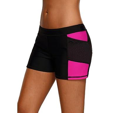 Mxssi Maillots de Bain Femmes Bikini Bottoms Taille Shorts de Sport Gym  Workout Bikini Shorts  Amazon.fr  Vêtements et accessoires 425f2f2173d