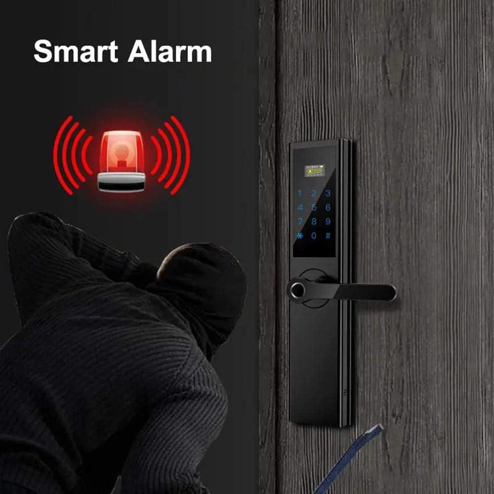 Color : Red, Size : One Size Lyntop Smart Door Lock Electronic Smart Door Lock APP Touch Password Keypad Card Fingerprint