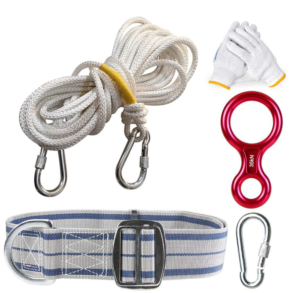- Kit de Survie en Plein air Escalade Alpinisme Descente Corde Escalade Corde équipement d'escalade Haute Altitude Corde De Sécurité Set Ascension Fournitures 30m