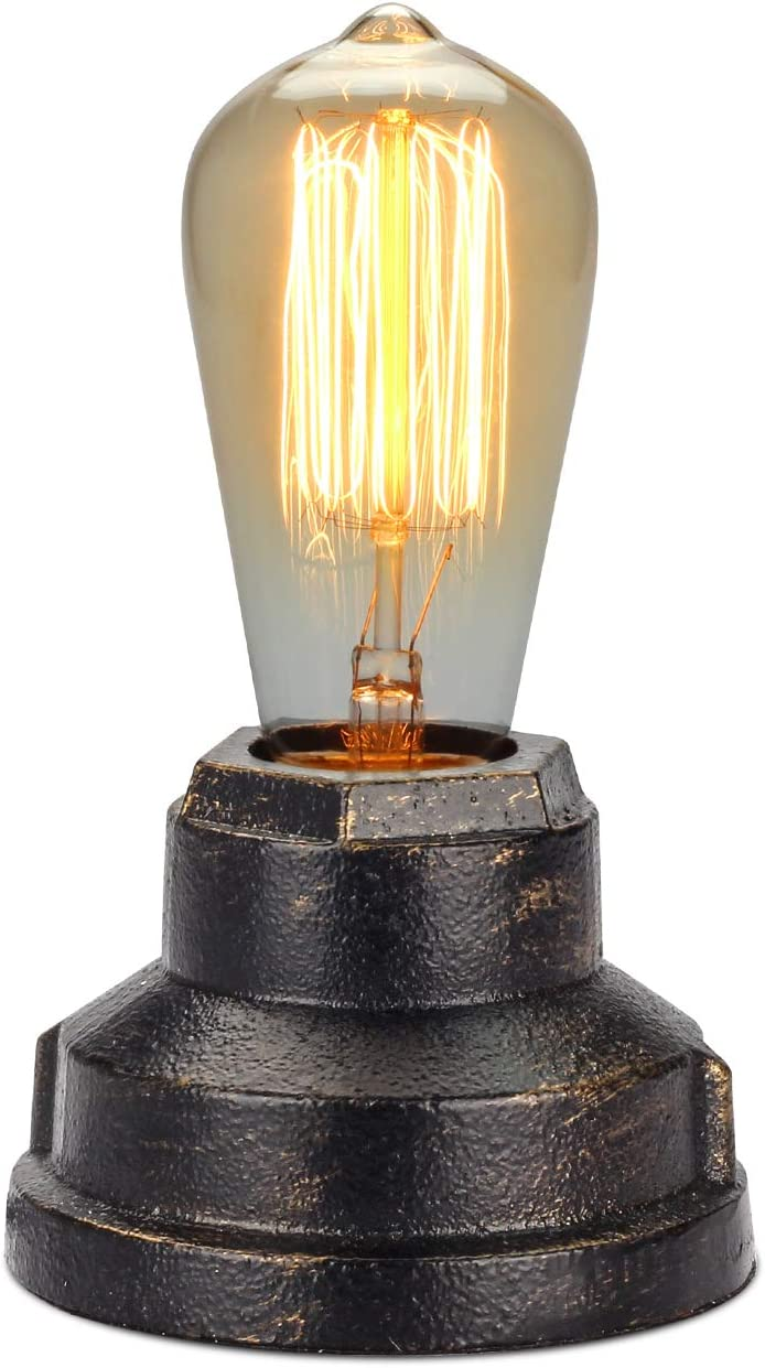 Boncoo Touch Control Table Lamp Vintage Desk Lamp Small Industrial Touch Light Bedside Dimmable Nightstand Lamp Steampunk Accent Light Edison Lamp Base Antique Night Light For Living Room Bedroom Amazon Com