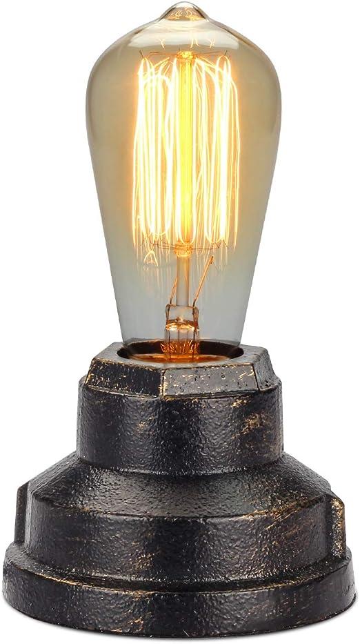 Amazon.com: Boncoo Lámpara de mesa de control táctil vintage ...