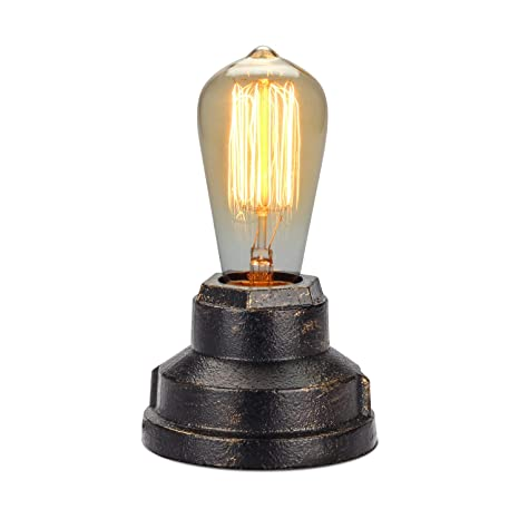 Double Lights Industrial Lamp Desk Lamp Antique Table Lamp