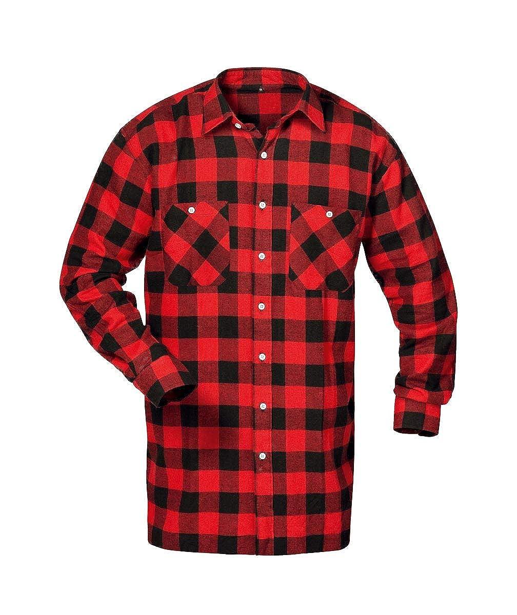 Arbeitshemd Hemd extra lang 105 cm Gr.4XL 49//50 100/% BW Flanell Karo Übergröße