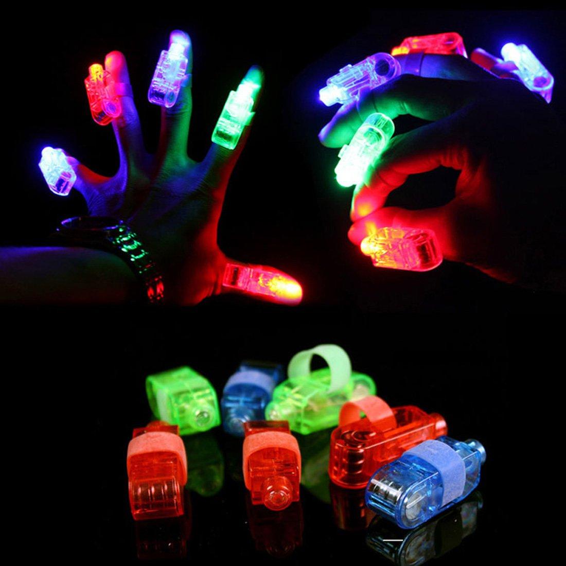 Syolee LED Finger Lights 40pcs Super Bright Finger Flashlight Ideal for Toys Party Favor Supplies .