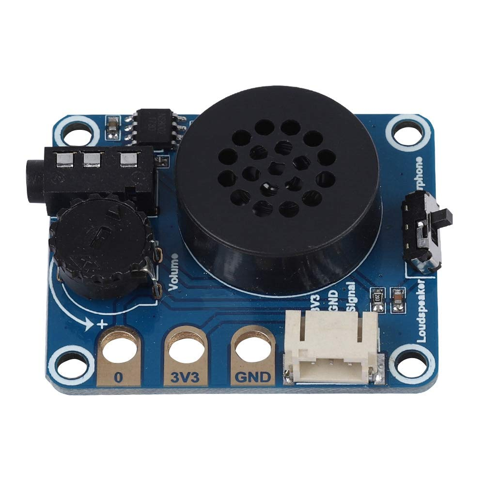 Bewinner Speaker Expansion Board Speaker Module Expansion Board for Micro: bit NS8002 Chip Compatible for Arduino Support Headphone Volume Adjustment Function