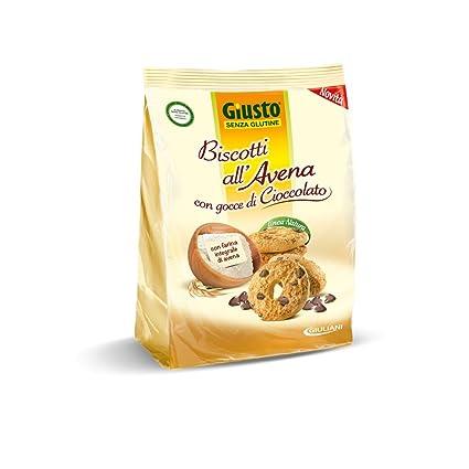 Giusto Galletas de avena con gotas de chocolate sin glutine 250 g
