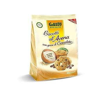 Giusto Galletas de avena con gotas de chocolate sin glutine ...