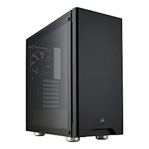 CORSAIR CARBIDE 275R Mid-Tower Gaming Case, Tempered Glass- Black (CC-9011132-WW)