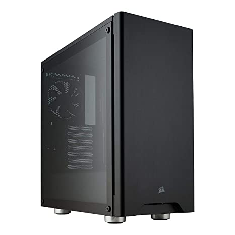 separation shoes 72bc7 2eeda CORSAIR CARBIDE 275R Mid-Tower Gaming Case, Tempered Glass- Black -  CC-9011132-WW