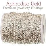 Aphrodite Gold Marque - 10 mètres Chaîne métal argenté 2 mm