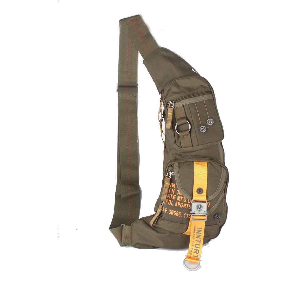 Bandolera para el hombro de nailon Innturt mochila para en el pecho Extra-Black