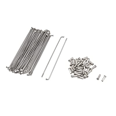 uxcell 36 Pcs Steel 3.2mm Dia Wheel Spokes with Nipples 160mm Length for Motorcycle: Automotive